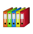 row of office folders vector image