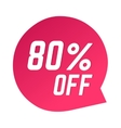 Sale banner discount label design flat vector image