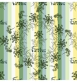 Seamless pattern drawing dill or fennel and text vector image
