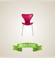 seating realistic element of vector image vector image