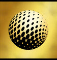 set abstract halftone 3d spheres 35 vector image vector image