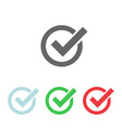 set check mark icon web icon vector image vector image