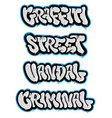 set graffiti vector image vector image