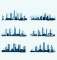 set north american citie new york chicago phoenix vector image vector image