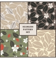 Set of four leaves seamless pattern vector image vector image