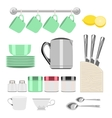set of objects for tea vector image
