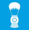 shaving brush icon white vector image vector image
