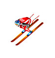 skier clipart skiing downhill vector image vector image