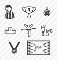 Sport Tournament icons vector image vector image
