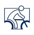 square shape cycling sport figure outline symbol vector image