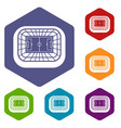 stadium top view icons set vector image vector image