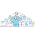 successful business - modern line design style vector image vector image