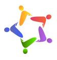 Teamwork concepts logo vector image