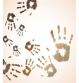 vector handprint color background vector image