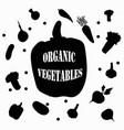 vegan black pepper sticker on white background vector image