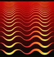 vintage abstract golden waves on dark red gradient vector image