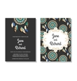 Wedding invitation save the date cards vector image