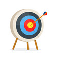target with arrow standing on a tripod vector image