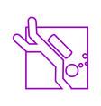 square shape diving outline sport figure symbol vector image