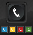 Call icon symbol Set of five colorful stylish vector image