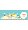 House set Asian city vector image