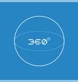 360 degress symbol vector image