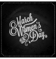 8 march women day chalk background vector image vector image