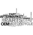 aftermarket vs oem motorcycle parts text word vector image vector image