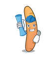 architect baguette character cartoon style vector image