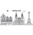 austria linz line skyline vector image
