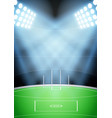background for australian football stadium vector image vector image