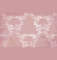 baroque pattern in pink color handmade vector image