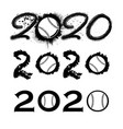 baseball 2020 new year numbers vector image