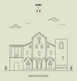 basilica saint micholas in bari italy vector image vector image