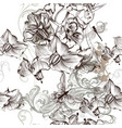 beautiful seamless floral wallpaper patter floral vector image vector image