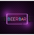 beer bar square frame neon sign image vector image vector image