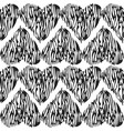 black and white seamless pattern with vector image vector image