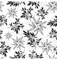 black and white tropical leaves summer vector image vector image