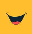 broad smile print design for kids medical face vector image vector image