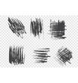 brushstroke scribbles set vector image vector image