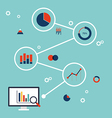 BUSINESS DATA INFORMATION ANALYSIS FLAT DESIGN vector image
