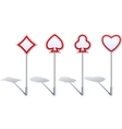 Card Suit Shaped Road Signs vector image vector image