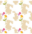 cartoon seamless pattern background with vector image vector image