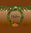 christmas and happy new year garland and border vector image vector image