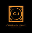 cj letter initial with royal luxury logo template vector image vector image