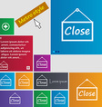 close icon sign Metro style buttons Modern vector image