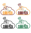 cloud pizza vector image vector image