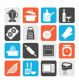 cooking tools icons vector image