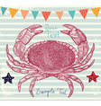 crabs background vector image vector image