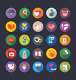 creative flat icons love and valentine vector image vector image